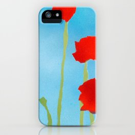 Poppies tall iPhone Case