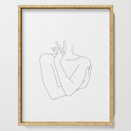 Crossed arms illustration -Kady Serving Tray