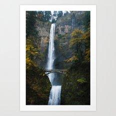 Oregon's Multnomah Falls Art Print