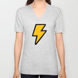 Cartoon Lightning Bolt pattern Unisex V-Neck