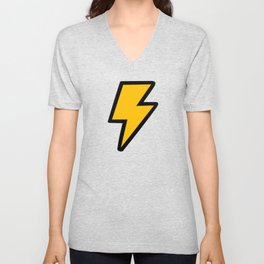 Cartoon Lightning Bolt pattern Unisex V-Neck