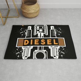I Love Smell Of Diesel In The Morning Rug
