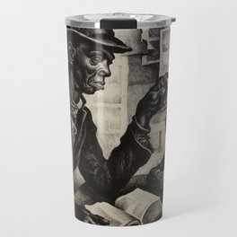 Classical Masterpiece 'The Instruction' by Thomas Hart Benton Travel Mug
