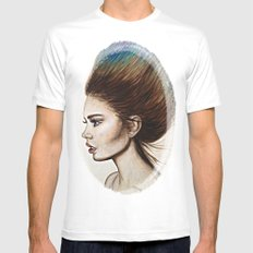 Ombre Hair Mens Fitted Tee White MEDIUM