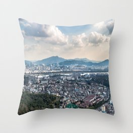 Seoul from Namsan Mountain Throw Pillow