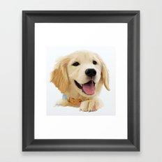 Golden Retriever Pup Framed Art Print