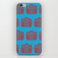 I Still Shoot Film Holga Logo - Blue & Red iPhone & iPod Skin
