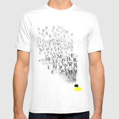 Typography and  the Black Hole White Mens Fitted Tee MEDIUM