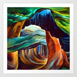 Emily Carr Forest in British Columbia Art Print