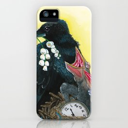 Ravens & Lilies iPhone Case