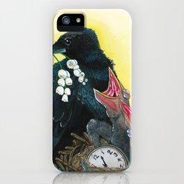 Ravens & Lilies iPhone Case