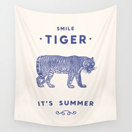 Smile Tiger, it's Summer Wall Tapestry