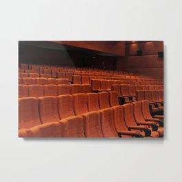 Cinema theater stage seats Metal Print