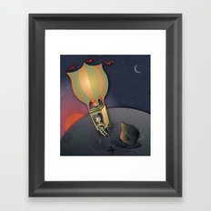 Flying away with the Circus Framed Art Print