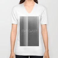 classy V-neck T-shirts featuring Stay Classy by Jane Lacey Smith