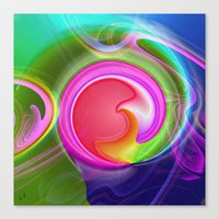 "agate Canvas Prints featuring "" Agate ""  by shiva camille"
