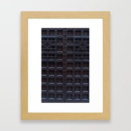 Strong Brown Iron Door Framed Art Print
