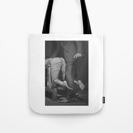 Waiting for the Whip 2# Nude woman whipped Tote Bag