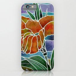 Silk Batik Cannas Art iPhone Case