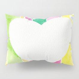 watercolor heart Pillow Sham