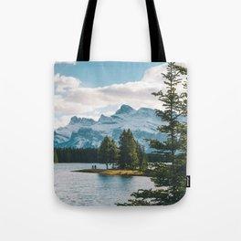 Two Jack Lake & Mt. Rundle Tote Bag
