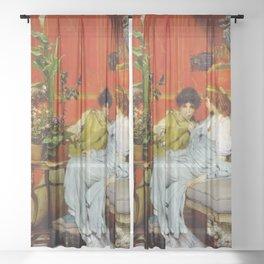 Confidences 1869 by Sir Lawrence Alma Tadema | Reproduction Sheer Curtain