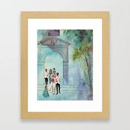 Vintage Wedding Framed Art Print