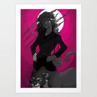 carmilla Art Prints featuring carmilla by lulu555