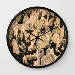 Cactus Maximalism // Vintage Bohemian Desert Photography Home Decor Summer Vibes Wall Clock