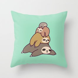 Sloth Stack Throw Pillow