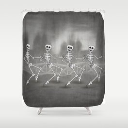 Dancing skeletons II Shower Curtain