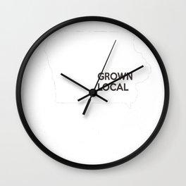 Iowa Grown Local IA Wall Clock