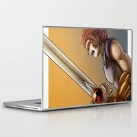 thundercats Laptop & iPad Skins featuring Leon-O by Sabina  Daldovo