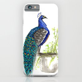 Peacock on Planter iPhone Case