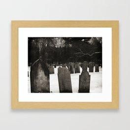 Revolutionary Cemetery Framed Art Print