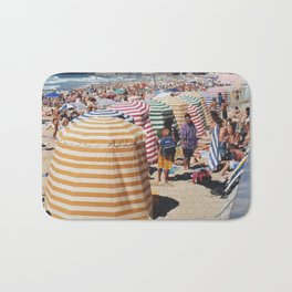 Biarritz Beach Tents Bath Mat