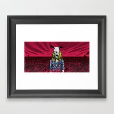 Cowgirl From Hell - Dark Framed Art Print