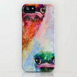 139. Colorful Ostrich Faces by M. Viljoen iPhone Case