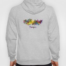 Tampa skyline in watercolor Hoody