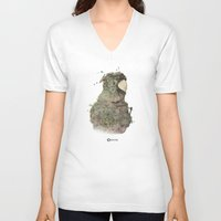 coco V-neck T-shirts featuring Coco by Eugénie Crand