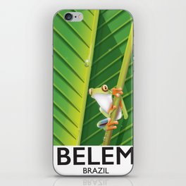 Belem Brazil travel poster iPhone Skin