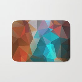 Abstract bright background of triangles polygon print illustration Bath Mat