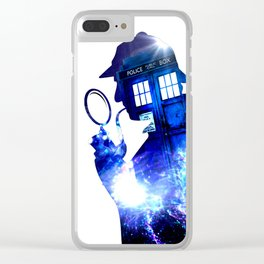 Tardis of sherlock holmes Clear iPhone Case