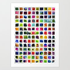Watercolor Squares Art Print