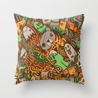 wasted rita Throw Pillows featuring Wasted Days by Craig Watkins