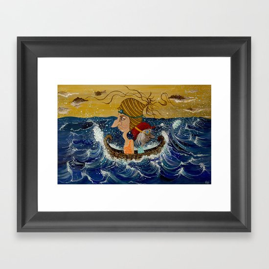 Weary Voyage Framed Art Print