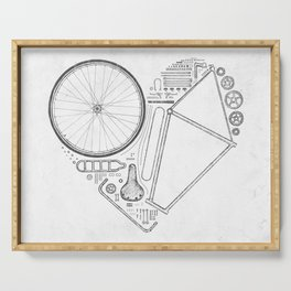 Love Bike (Grey) Serving Tray