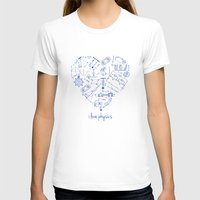 physics T-shirts featuring I heart physics by lucylamplight
