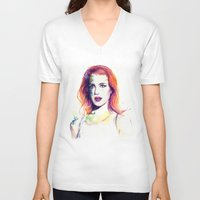 paramore V-neck T-shirts featuring If There's a Future by André Luiz Barbosa