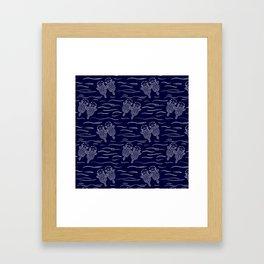 Otterly Devoted Framed Art Print
